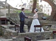 Para młoda na sesji ślubnej
